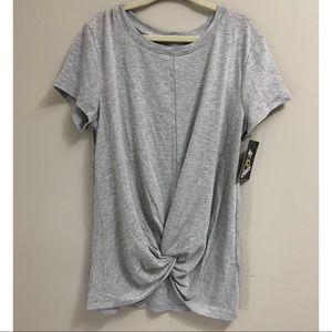 Girls Knot Grey T-Shirt | Size 7/8